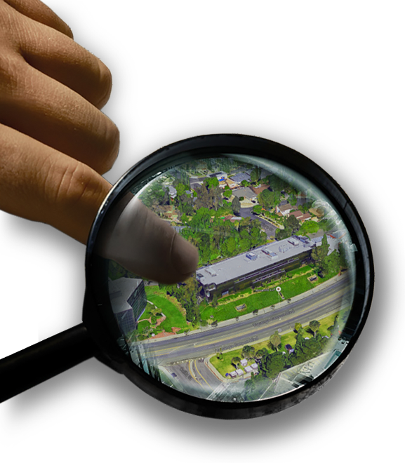 Magnifying Glass Over Netword Building